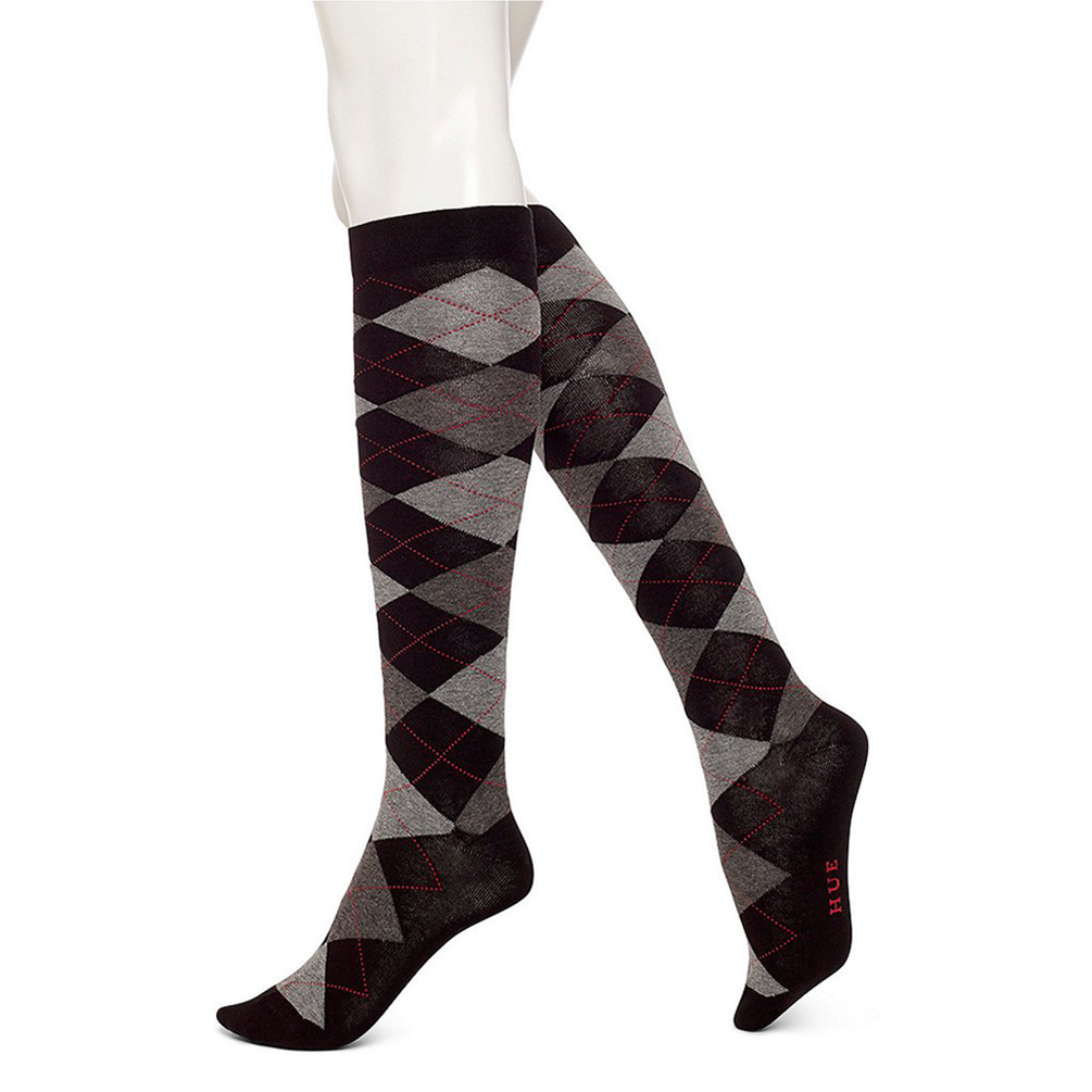 f09282852 HUE Womens Argyle Knee Socks U14908   8.50