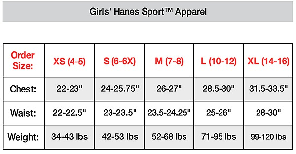 Girl's sports apparel