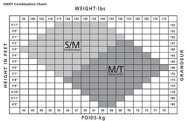 DKNY Combination Chart S/M-M/T