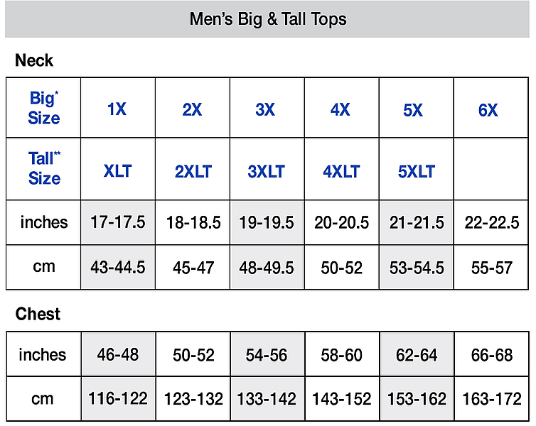 Men's Big & Tall Top