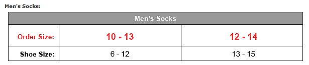 Mens Socks 10-13,12-14